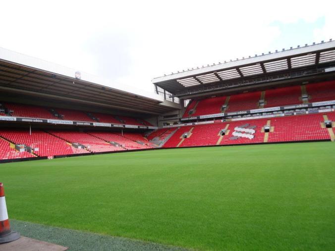 Energia contagiante - estádio Anfield