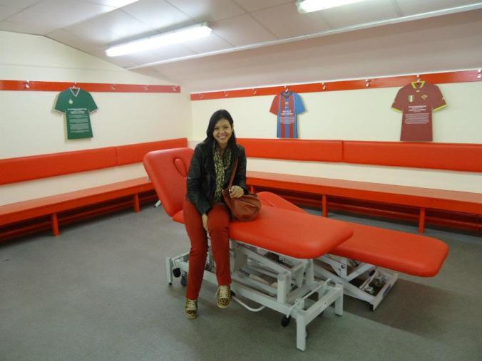 Sala de preparação dos jogadores