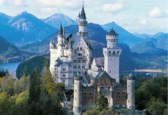 A foto que o Felipe me mandou Castelo Neuschwanstein Foto: Reprodução.