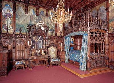 Quarto do rei, Castelo Neuschwanstein Foto: Site oficial da Bavária