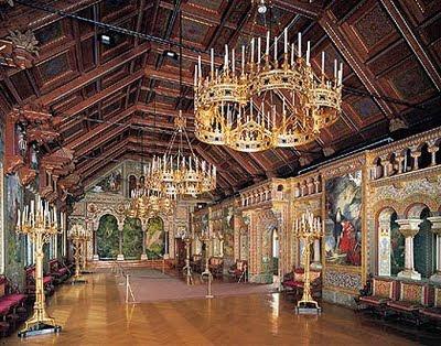 Salão dos cantores, Castelo Neuschwanstein Foto: Site oficial da Bavária