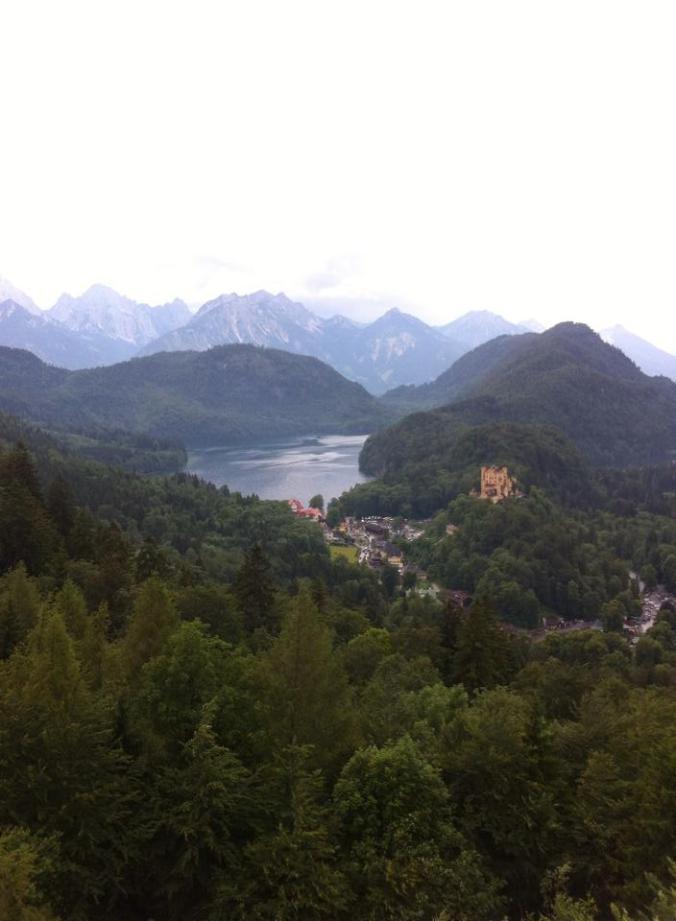 Vista da trilha, castelo Neuschwanstein Foto: arquivo Felipe