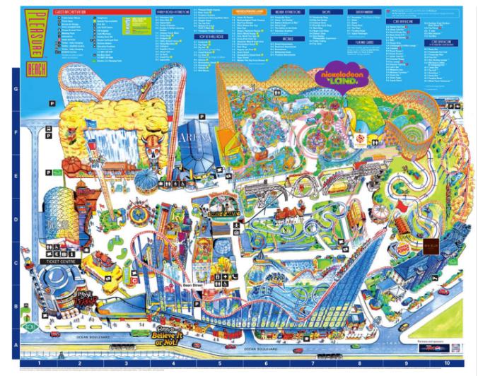 Mapa do parque de Blackpool, Inglaterra Foto: Site oficial