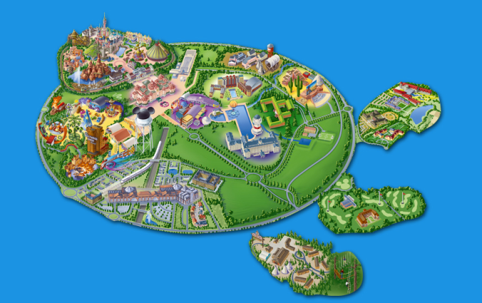 Mapa do parque da Disney Paris Foto: Site oficial
