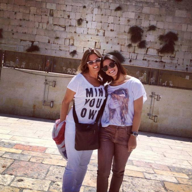 Eden e sua mãe no Muro das Lamentações em Jerusalém Arquivo: Eden Mantel